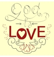Lettering Bible God is love with hearts vector image