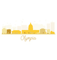 Olympia City skyline golden silhouette vector image