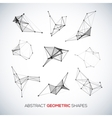 Set of abstract geometric shapes vector image