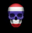 Thai flag skull vector image