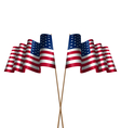 Two Flags USA Waving Wind vector image