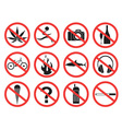 Prohibition Sign Icon vector image