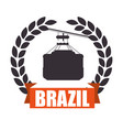 brazil cableway isolated icon vector image