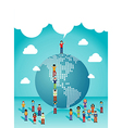 Social networks people growth vector image
