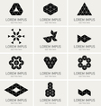 Triangle symbols such as logos vector image vector image
