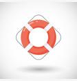 life buoy flat icon vector image