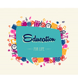 Education back to school social bubble global vector image
