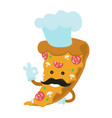 pizza chef modern flat style vector image