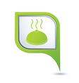 dish GREEN pointer vector image vector image