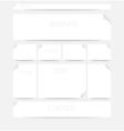 Webpage layout vector image