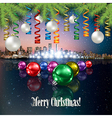 Abstract stars Christmas with panorama of city and vector image vector image