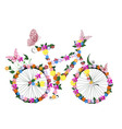 Bike flowers vector image