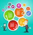 Businessmen or Teachers with Circle Paper vector image