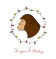 Bright holiday card New year vector image