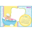 Babys calendar for december 2011 vector image