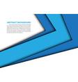 abstract blue arrow overlap white modern vector image