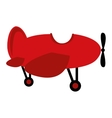 Airplane fly vehicle isolated icon vector image