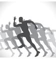 black men runner vector image