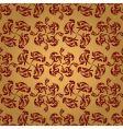 golden swirl repeat vector image