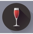 icon - glass of red wine Flat designed vector image