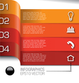 infographics bulb 361a vector image