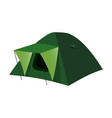 Isolated camping tent in flat vector image