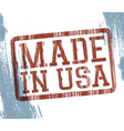 made in usa stamp vector image