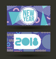 new year 2018 card invitation geometric banner vector image