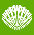 pearl shell icon green vector image
