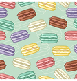 seamless retro style macaroon background pattern vector image