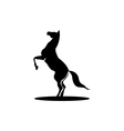 silhouette horse logo vector image