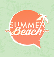 Summer Beach Calligraphic Design vector image