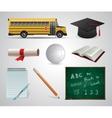 Education School University flat icon vector image vector image