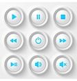 Blue plastic navigation buttons vector image vector image
