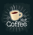 cup of coffee flat with vector image