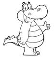 Alligator fun vector image