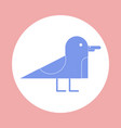 icon in flat design on colorful background gull vector image