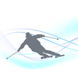 Winter background with a skier vector image vector image