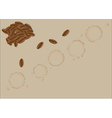 Coffee grains vector image