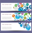 globe banners 8976 vector image vector image