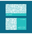 blue and white lace garden plants vector image