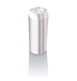 plain metal drink can vector image vector image