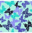 Decorative pattern of collection cute butterflies vector image