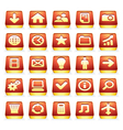 3D Interface icons vector image
