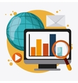 SEO icons technology related vector image
