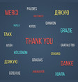 colored lettering thank you in different languages vector image