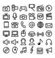 communication media modern technology line icons vector image