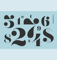 font of numbers in classical french didot style vector image