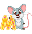 happy mouse cartoon posing vector image