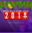 new year is coming 2018 background with vector image